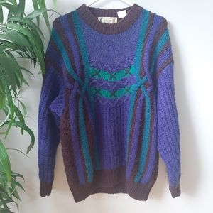 Vintage hand knit mohair wool sweater